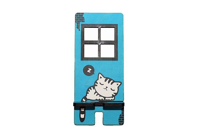 Porta Celular | Gato na Janela