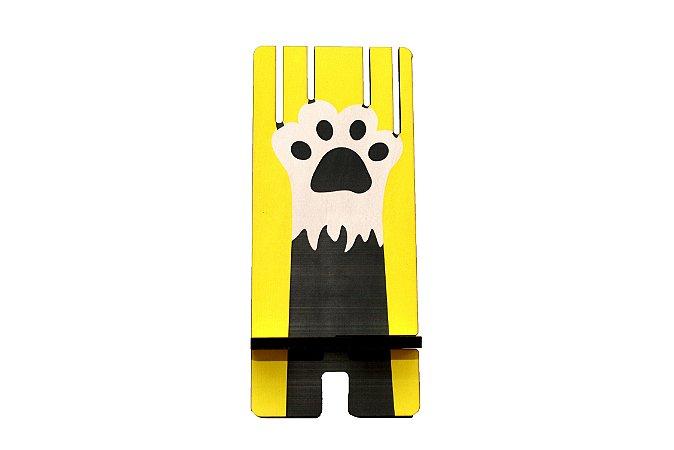 Porta Celular | Gato arranhando amarelo