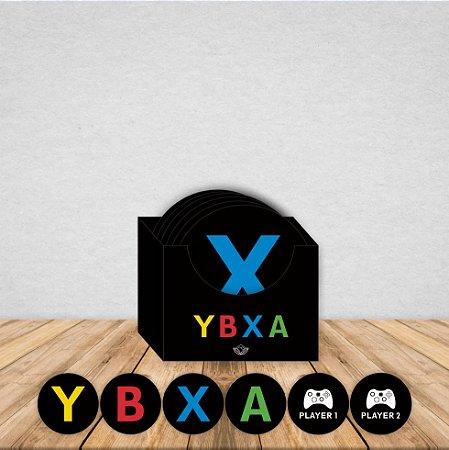 Jogo de 6 Porta Copos Geek Imantizado | XBOX| Com Caixinha