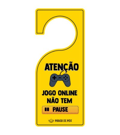 Placa TAG MDF Decorativa Para Porta | Jogo Online