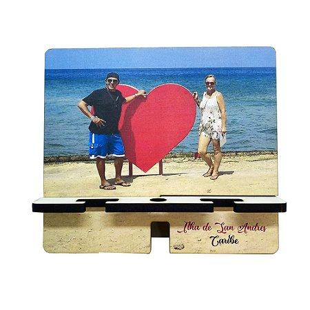 Porta Celular  Duplo Personalizado | Personalize com a sua foto