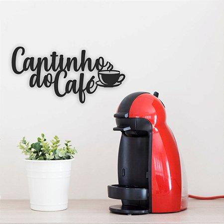 Letreiro de Parede em MDF | Cantinho do café