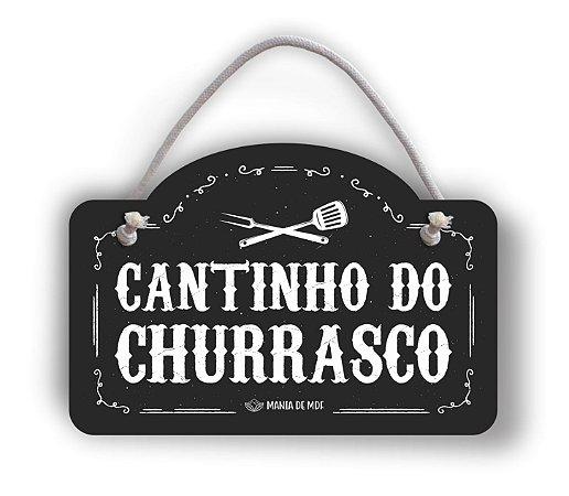 Placa Decorativa | Cantinho do Churrasco