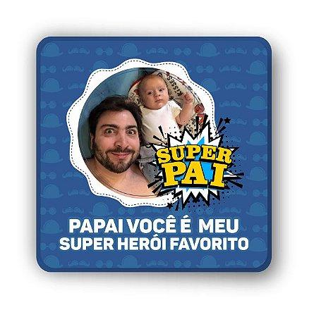 PORTA COPO MAGNÉTICO/IMÃ DE GELADEIRA | PERSONALIZADO | SUPER PAI