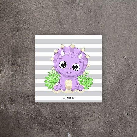 Quadro decorativo Dino Roxo | 20x20