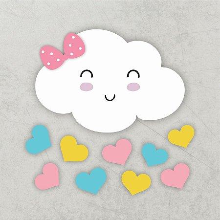 Nuvem chuva de amor | MDF