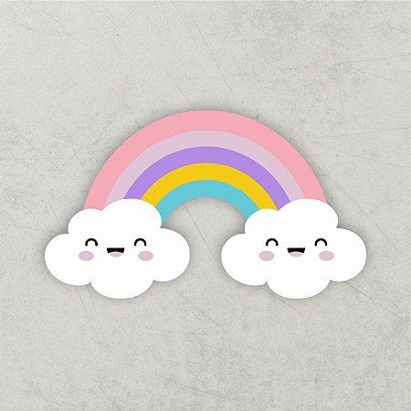 Chuva de amor   Arco íris 3D   MDF
