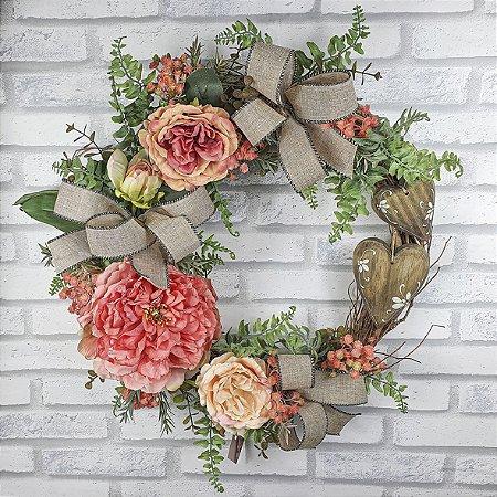 Guirlanda de Flores - Salmão