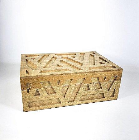 Caixa de Madeira - Retangular/Pequena
