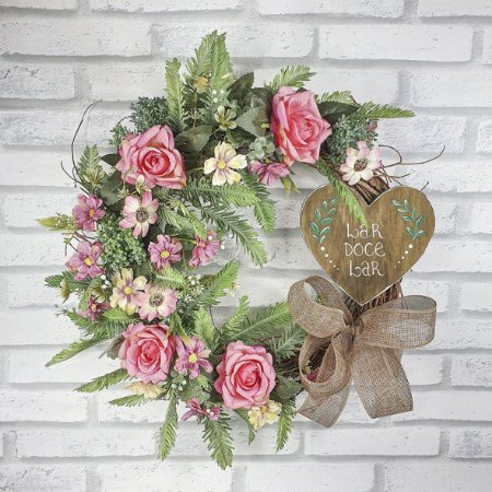 Guirlanda de Flores - Rosa/ Lar Doce Lar