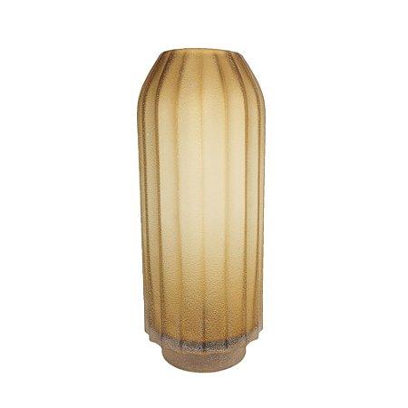 Vaso de Vidro - Amarelo/Grande
