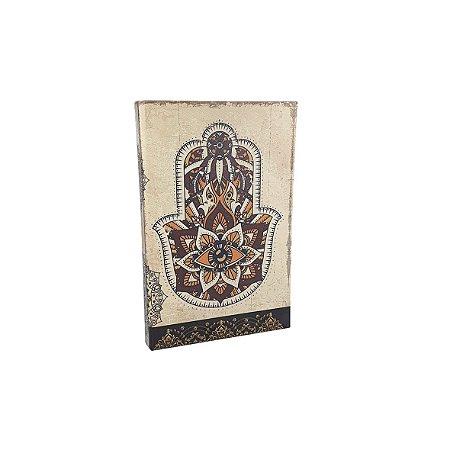 Livro Caixa - MDF Pequeno/Hamsá