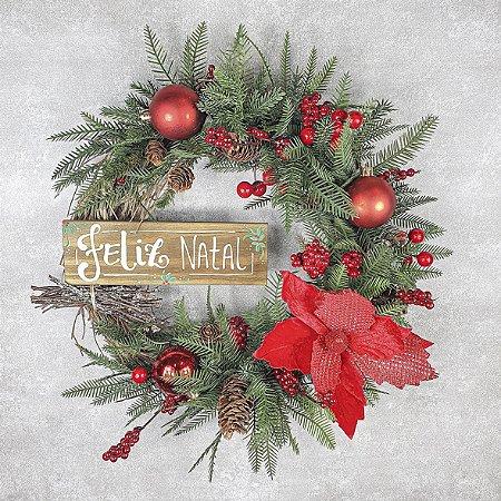 Guirlanda de Natal - Feliz Natal/Pinhas