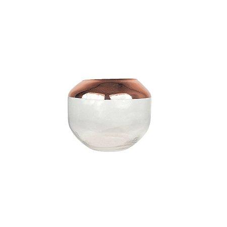 Vaso de Vidro Pequeno - Metalizado/Rose