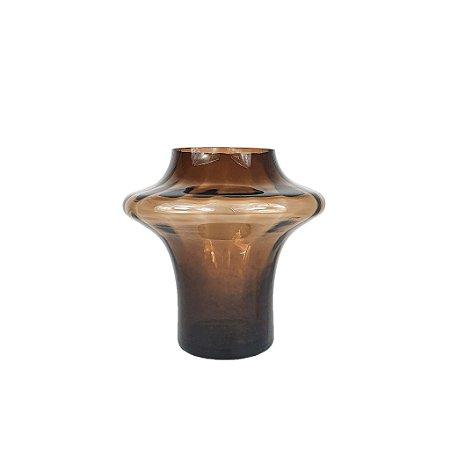 Vaso de Vidro - Marrom