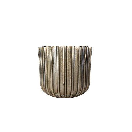 Vaso de Cerâmica - Ondulado/Chumbo