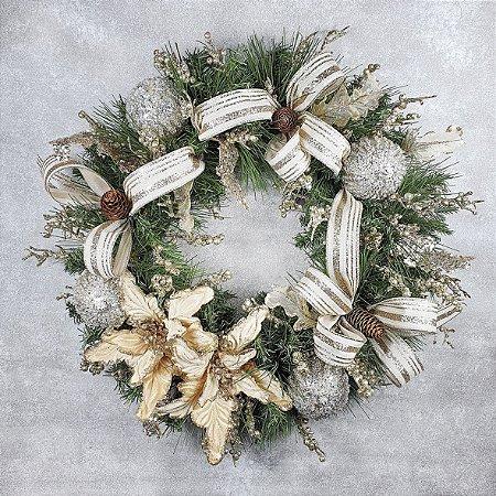 Guirlanda de Natal - Festão/Dourado e Prata