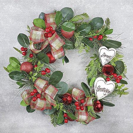 Guirlanda de Natal - Berry/Vermelho