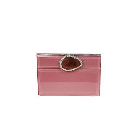 Porta Joias de Madeira - Rosa