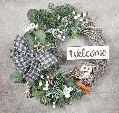 Guirlanda de Natal - Welcome/Coruja
