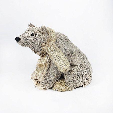 Urso Polar Decorativo - Marrom/Perolado