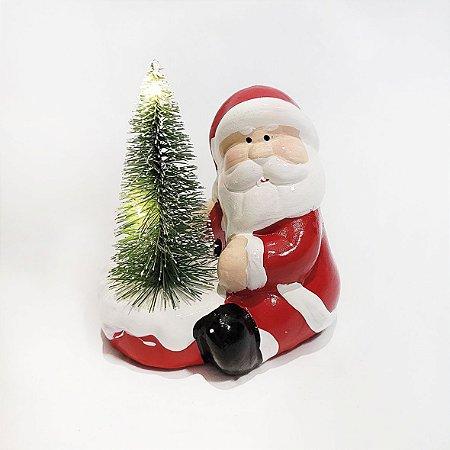 Papai Noel em Resina - Árvore/ Led