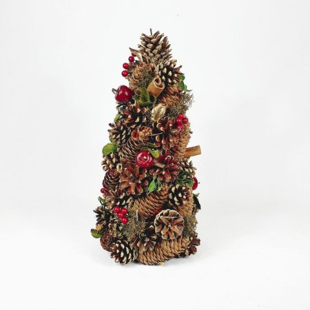 Árvore Berry Decor - Vermelho/Verde - 30cm