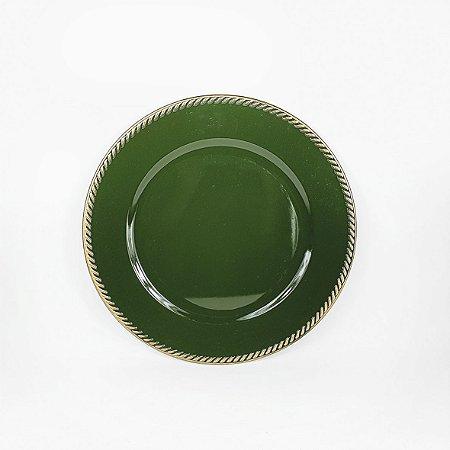 Souplast de Polietileno - Verde/ Borda Dourada