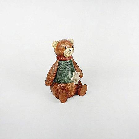 Urso em Resina - Marrom/Sentado
