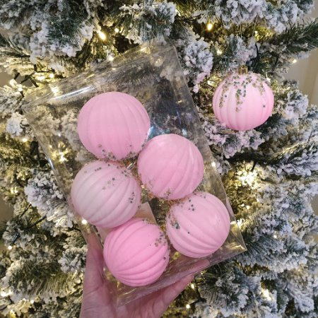 Jogo de Bolas Decorativa - Rosa/Candy