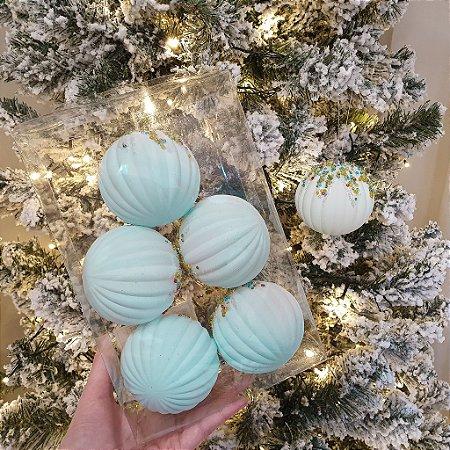 Jogo de Bolas Decorativas - Azul/Candy