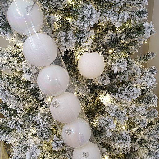 Jogo de Bolas Decorativas - Furta Cor/Glitter - 8cm