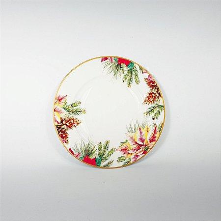 Prato Porcelana - Lanche - Floral - 19cm