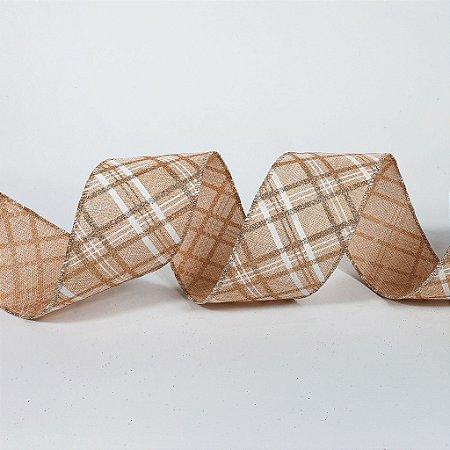Rolo de Fita Aramada - Bege Rosê - 6,3cm x 9m