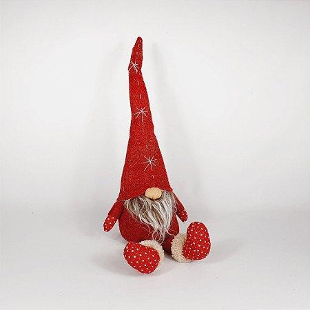 Papai Noel Sentado Decor Ruby - 54cm - Vermelho