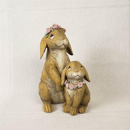 Coelhas de resina - 20cm