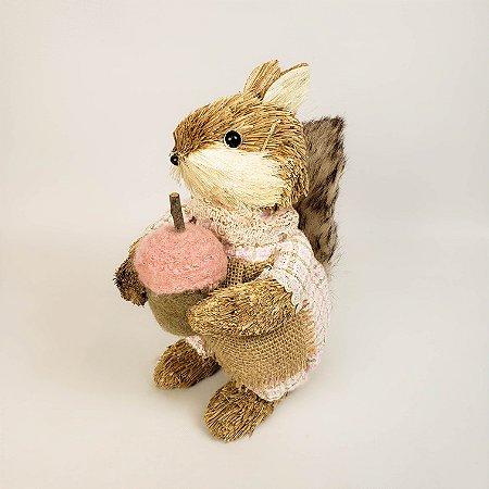 Esquilo rústico fem. 23cm