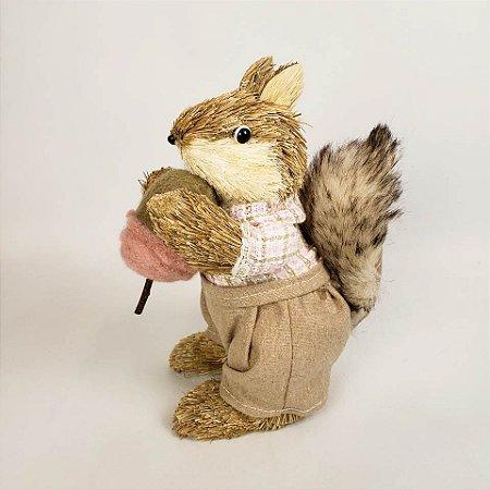 Esquilo rústico 23cm