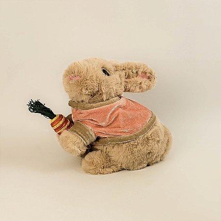 Coelho de pelúcia c/ suéter 16cm