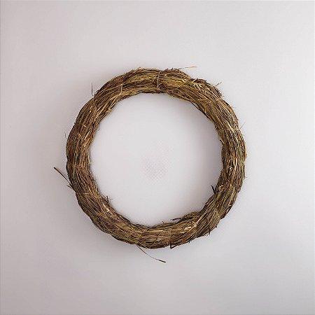Aro Guirlanda de palha - 30cm