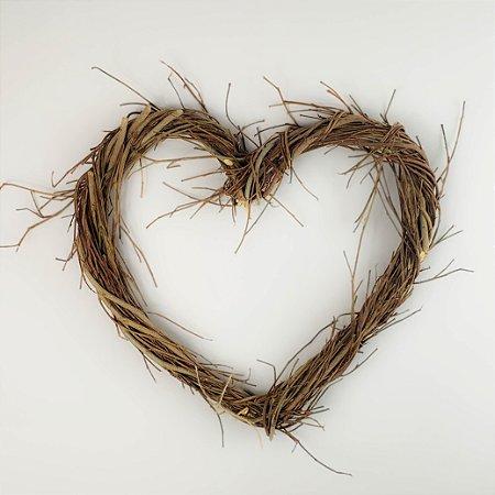 Aro Guirlanda de galhos Coração - 30cm