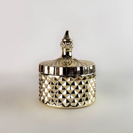Porta-jóias - Pote Dourado Multiuso - 10cm
