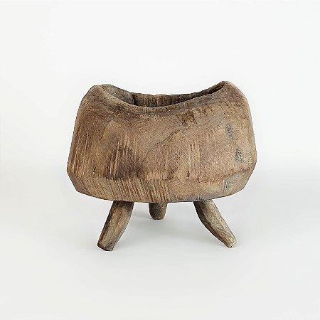Cachepot de Madeira Pé Palito - 12cm