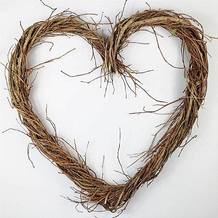 Aro - Guirlanda de galhos - Coração - 40cm