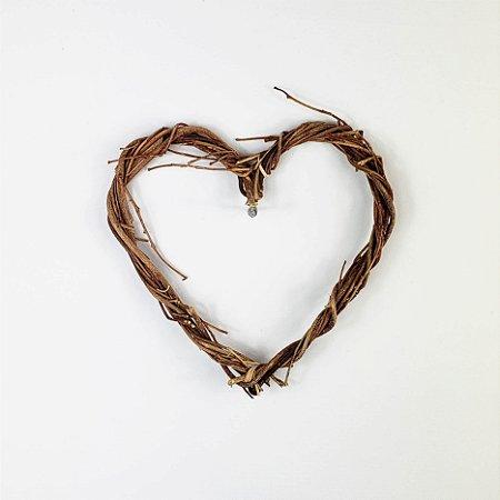 Aro - Guirlanda de galhos - Coração - 15cm