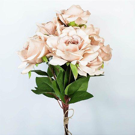 Buquê de Rosas Bege - 50cm