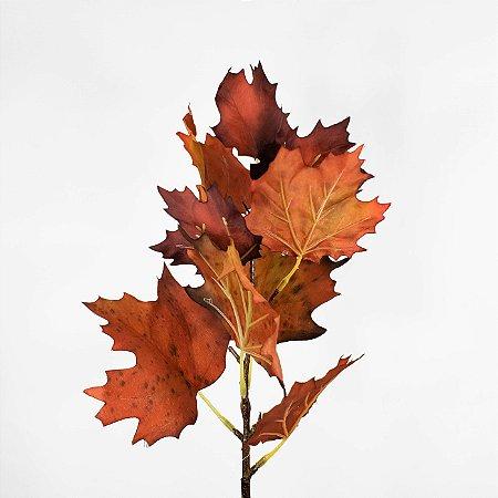 Haste de Folha Maple Ferrugem - 50cm