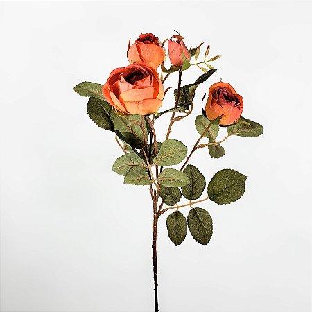 Haste de Rosa Laranjada - 62cm