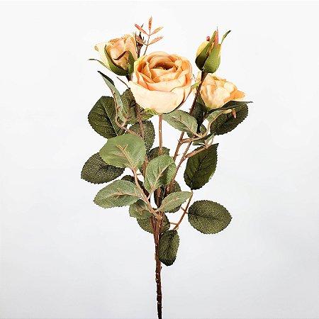 Haste de Rosa Amarelo Claro - 62cm