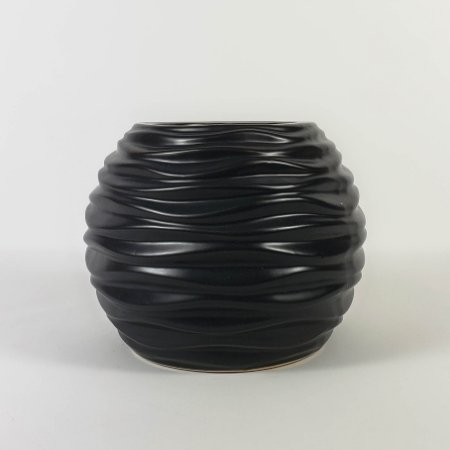 Vaso de Cerâmica Preto Fosco - 10cm